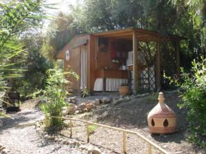 Yurt holiday Spain kitchen