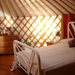 yurt bed side view
