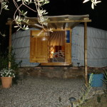 yurt holiday spain at night